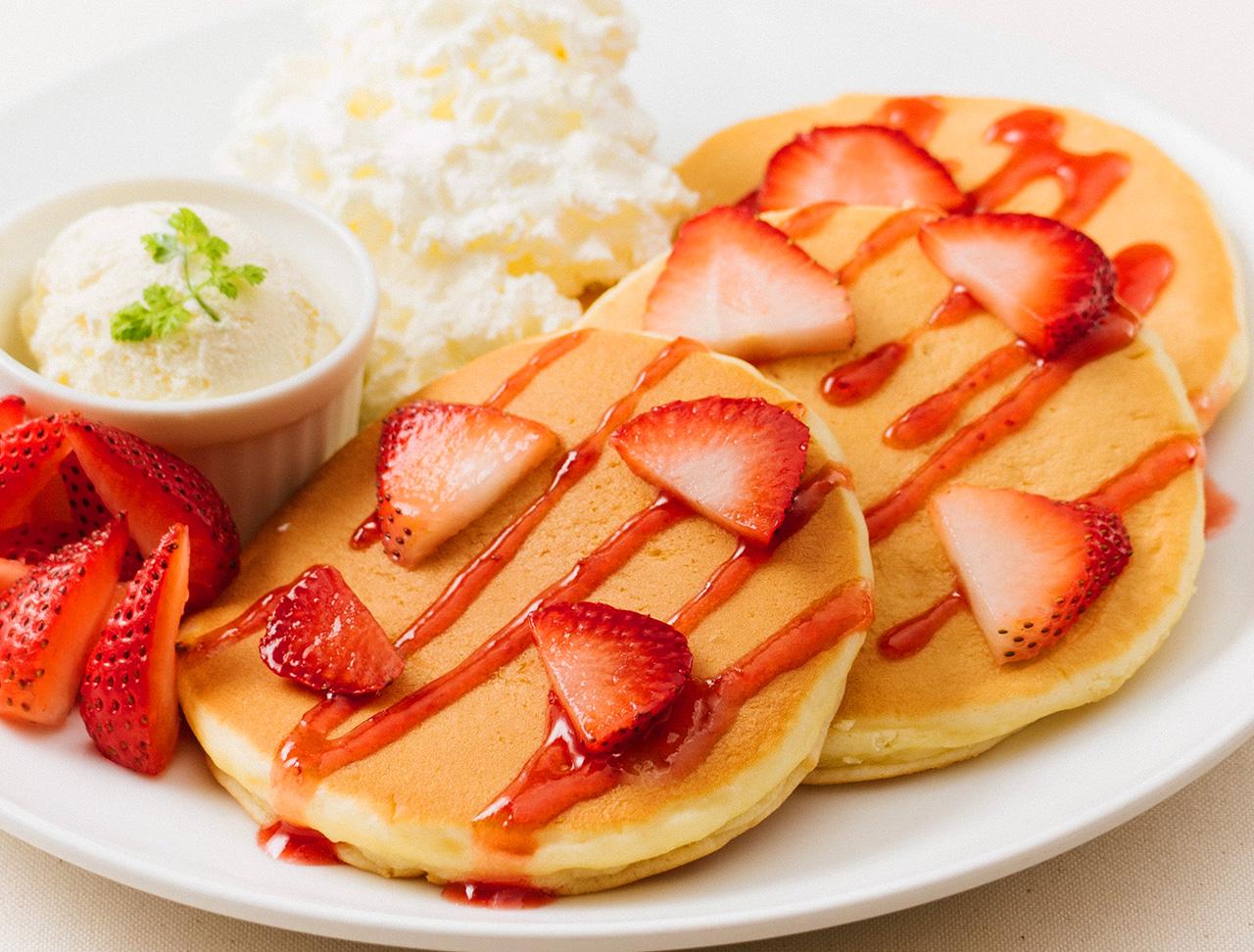いちごのハワイアンパンケーキ